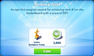 Me-striking gold-43-prize