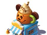 Pumpkin Demitasse Stand