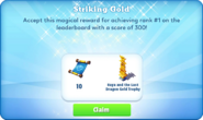 Me-striking gold-93-prize