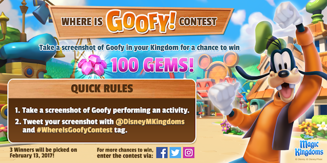 Where Is Goofy! Contest 2017