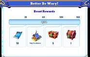 Me-better be wary-3-milestones