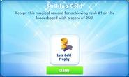 Me-striking gold-100-prize