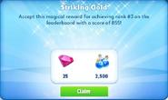 Me-striking gold-46-prize