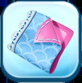 Blue Scallop Fabric Token