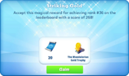 Me-striking gold-84-prize