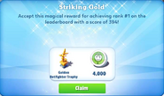 Me-striking gold-44-prize