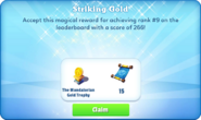 Me-striking gold-85-prize