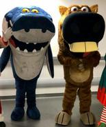 Zig and Sharko Mascots