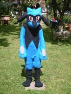 Riolu costume cosplay fursuit by shadowhatesomochao d2u48x1-fullview