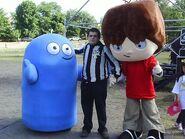 Mascot Mac and Bloo