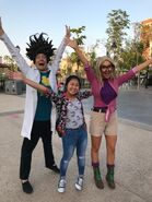 Cloudy with a chance of meatballs characters at motiongate dubai