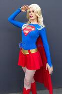 Supergirl Cosplay Costume Dress Halloween