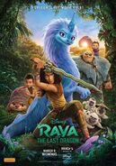 Raya and the Last Dragon australian poster