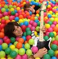 Leo and dylan ball pit