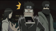 Kiba é mordido por Akamaru