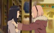 Sakura encourages Hinata