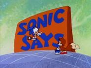 Sonic Says card
