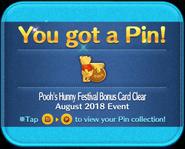 Pooh's Hunny Festival Card Clear pin GET! Bonus