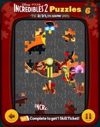 Incredibles 2 Puzzles Card 6a
