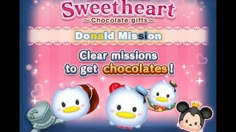 Disney Tsum Tsum - Donald & Holiday Donald (Tsum Tsum Sweetheart Event)