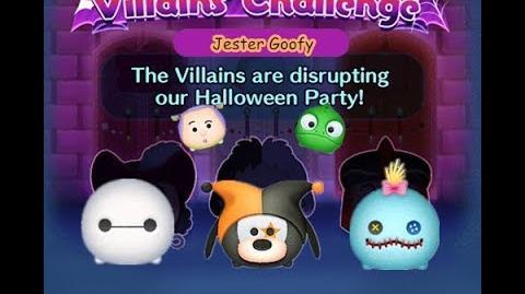 Disney Tsum Tsum - Jester Goofy (Disney Villains' Challenge - Cruella Map 4)