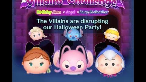 Disney Tsum Tsum - 3 plays to clear it (Disney Villains' Challenge - Cruella Map 9)