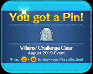 Villains' Challenge 2019 Clear silver pin GET!