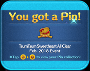 TsumTsum Sweetheart All Clear pin GET!