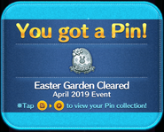 Easter Garden Cleared pin GET!