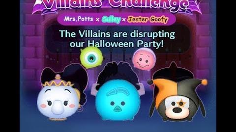 Disney Tsum Tsum - 3 plays to clear it (Disney Villains' Challenge - Cruella Map 5)
