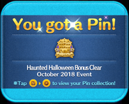 Haunted Halloween Bonus Clear pin GET!