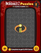 Incredibles 2 Puzzles Card 1