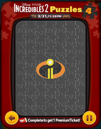 Incredibles 2 Puzzles Card 4