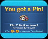 MA Film Collection cleared platinum pin GET!