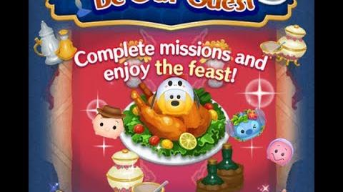 Disney Tsum Tsum - Rattle Bones Pluto (Be Our Guest Event - Extra Card 7 - 7)