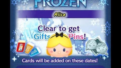 Disney Tsum Tsum - Alice (Frozen Event - Card 8 - 12)