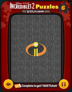 Incredibles 2 Puzzles Card 6