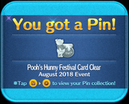 Pooh's Hunny Festival Card Clear pin GET!