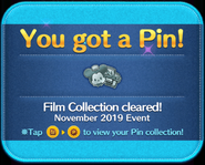 MA Film Collection cleared silver pin GET!