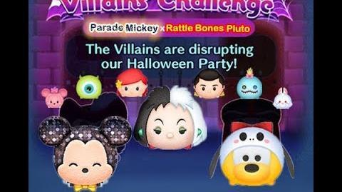 Disney Tsum Tsum - 6 plays to clear it (Disney Villains' Challenge - Cruella Map 8)
