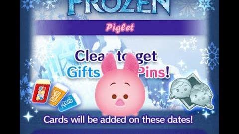 Disney Tsum Tsum - Piglet (Frozen Event - Card 10 - 10)