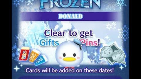 Disney Tsum Tsum - Donald (Frozen Event - Card 7 - 7)