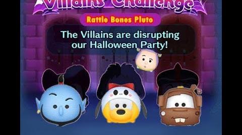 Disney Tsum Tsum - Rattle Bones Pluto (Disney Villains' Challenge - Captain Hook Map 9)
