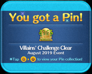 Villains' Challenge 2019 Clear gold pin GET!