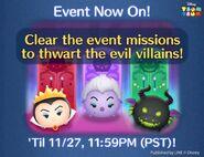 DisneyTsumTsum Events International Villains LineAd2 201611