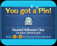 Haunted Halloween Clear pin GET!