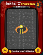 Incredibles 2 Puzzles Card 3