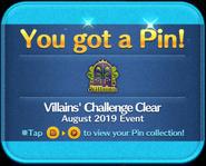Villains' Challenge 2019 Clear platinum pin GET!