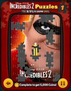 Incredibles 2 Puzzles Card 1a