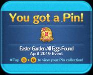 Easter Garden All Eggs Found pin GET!